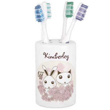 BFF - Best Friends Forever Cute Animal Kids Name Soap Dispensers
