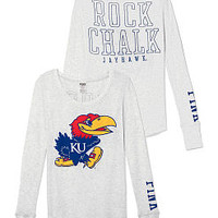 University Kansas Long-sleeve Thermal Tee - PINK - Victoria's Secret