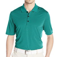 adidas Men's Climacool 2-Color Pencil Stripes Polo Shirt