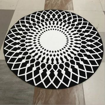 DCCKHNW Round washable home yoga computer chair hanging basket mat living room Bedroom mat