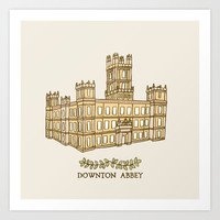 Downton Abbey Art Print by Emma Margaret Illustration