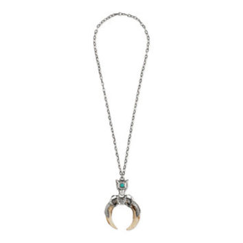 Gucci Anger Forest horn pendant necklace in silver