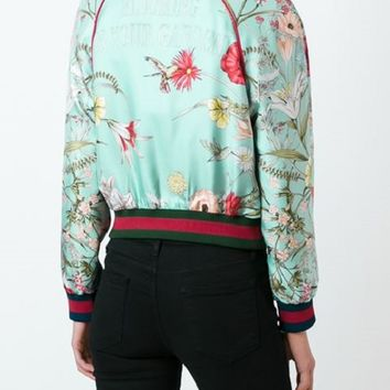 Indie Designs Gucci Inspired 'Acid Bloom' Bomber Jacket
