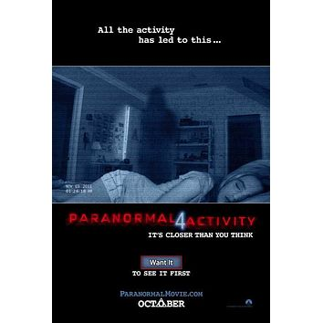 Paranormal Activity 4 27x40 Movie Poster (2012)