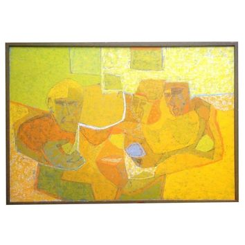 Pre-owned Cubist Painting by Robert Inlow