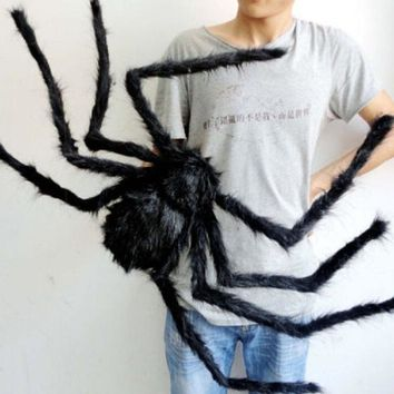 Halloween Decoration Horror 30/50/75cm Large Size Plush Spider Funny Toy For Party Halloween Decoration Horror House VQW8932