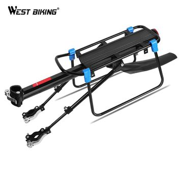 WEST BIKING Bicycle Luggage Rack Cargo Carrier Rack Cycling Shelf Seatpost Bags Holder For 20-29 Inch Bike Rear Rack With Fender