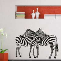 Wall Decal Vinyl Sticker Wild Animal Zebra Decor Sb453