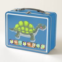 Turtle Metal Lunch Box