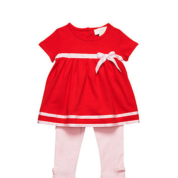 Kate Spade Babies' Short Sleeve Top And Legging Set Fairytale Red/