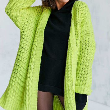 Silence + Noise Ally Neon Chunky Cardigan - Urban Outfitters