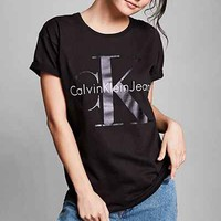 Calvin Klein For UO Heavy Knit Logo Tee - Urban Outfitters