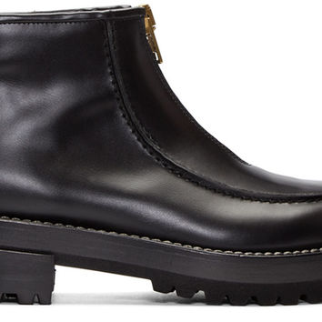 Black Zip Ankle Boots