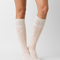 Women's Weaved Sock in Cream/Pink by Daytrip.