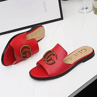 GUCCI Women Fashion Slipper Flats Shoes