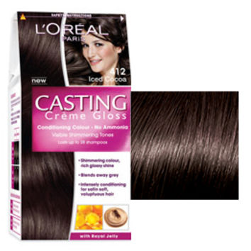 412 Iced Cocoa Casting Creme Gloss: ammonia free hair colour that gives shimmering tones from L'Oréal Paris