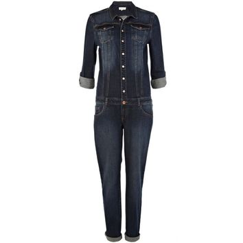 Dark wash denim boiler suit - jumpsuits - playsuits / jumpsuits - women
