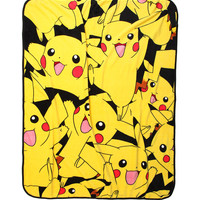 Pokemon Pikachu Print Throw