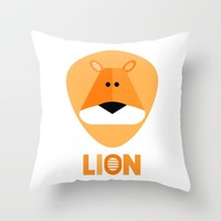 Lion Throw Pillow by Limitation Free