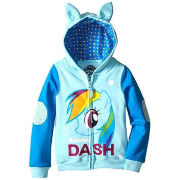 My Little Pony - Rainbow Dash Side Shot Girls Juvy Zip Hoodie