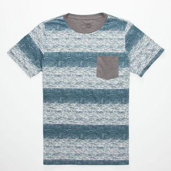 Blue Crown Space Dye Boys Pocket Tee Gray  In Sizes