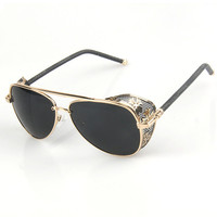 Vintage Star Men Classics Mirror Sunglasses [6592751939]