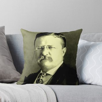 'Theodore Roosevelt' Throw Pillow by IMPACTEES