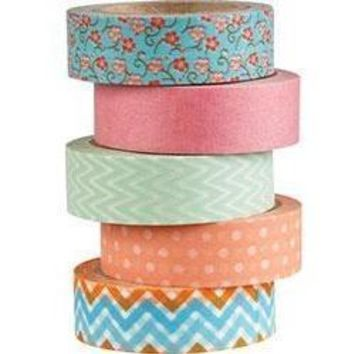 Washi Tape 5 Roll Assorted Sets  [Waste Not Paper]
