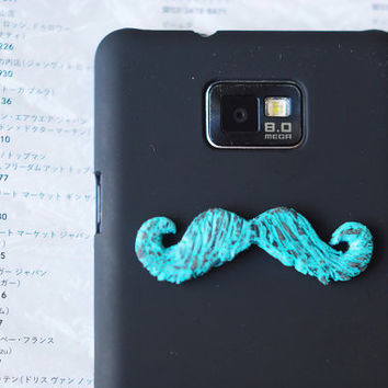 Minty mustache on Galaxy s2 phone Unusual black hard by MyBookmark