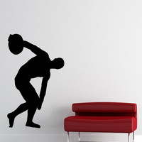 Vinyl Wall Decal Sticker Discus Thrower Silhouette #OS_MB539