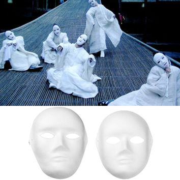 12 PCS Male Female DIY Full Face Mask for Halloween Party Cosplay Carnival Masquerade