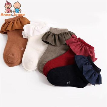 2018 Lace Socks Girls Cozy Vintage Lace Ruffle Frilly Ankle Socks Baby Girls Princess Socks Floral Kids meias School