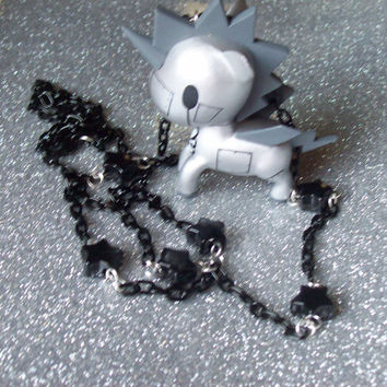 Tokidoki Robot Unicorn Necklace