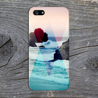 Pink x Blue Geometric Shapes x Rock Beach Waves Case for iPhone 6 6 Plus iPhone 5 5s 5c iPhone 4 4s Samsung Galaxy s5 s4 & s3 and Note 4 3 2