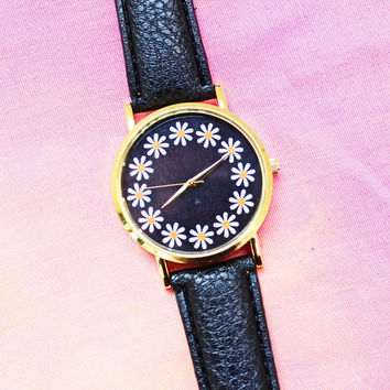 Sienna Daisy Vegan Leather Watch