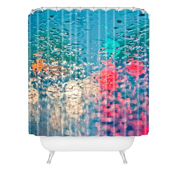 Bird Wanna Whistle Rain Impression Shower Curtain