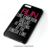 Run Like Cameron Dallas iPhone 4 4S 5 5S 5C 6 6 Plus , iPod 4 5  , Samsung Galaxy S3 S4 S5 Note 3 Note 4 , and HTC One X M7 M8 Case