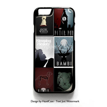 Minimalist Disney Film Posters for iPhone 4 4S 5 5S 5C 6 6 Plus , iPod Touch 4 5  , Samsung Galaxy S3 S4 S5 Note 3 Note 4 , and HTC One X M7 M8 Case Cover