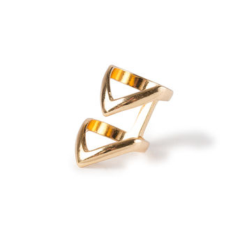 Double Chevron Band Ring