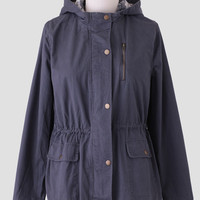 Norfolk Road Curvy Plus Anorak In Charcoal