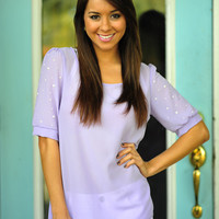 Cute As A Pearl Top: Pale Purple | Hope's