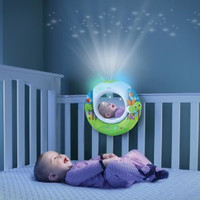 Baby Infant Newborn Soothing Lullaby Sound Sleep Music Player Projector Night Light Mirror