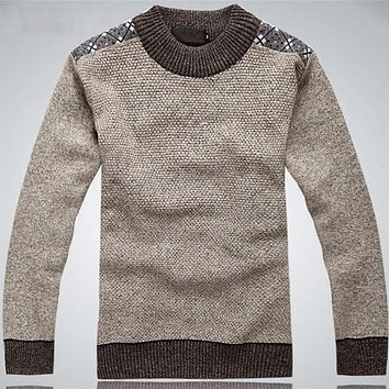 Winter O-Neck Christmas Sweater Men Casual Pullover Men 2017 Male Wool Sweater Thick Knitted Mens Sweaters And Pullovers Jumper