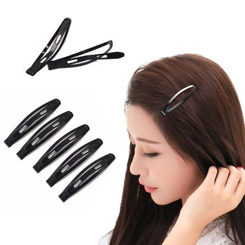 24Pcs Hair Snap Clips Black Metal Hair Clips/Pins For Girls Headwear Hairgrips Hairclip Barrettes Hairpins Girls Hair Ornaments
