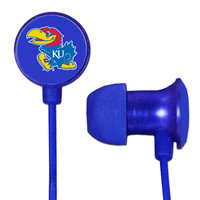 Kansas Jayhawks Scorch Earbuds + Mic with BudBag