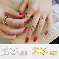 New Arrival Gift Shiny Jewelry Korean Hollow Out Stylish Decoration Accessory Ring [6586076999]