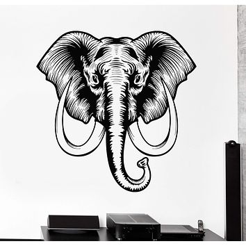 Vinyl Wall Decal African Elephant Animal Tribal Art Stickers Unique Gift (ig4240)