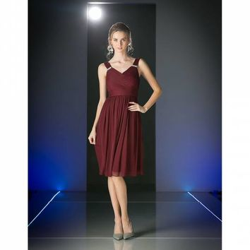 Burgundy Red Sleeveless Cocktail Dress for Prom 2017