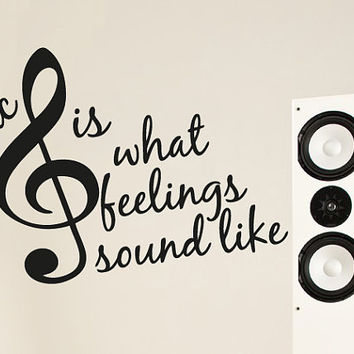 Wall Decal Vinyl Sticker Decals Art Decor Design treble clef Sign Quote Music Sound Music Electro House Rock Office Gift Bedroom Dorm (r747)