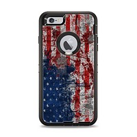 The Grungy American Flag Apple iPhone 6 Plus Otterbox Defender Case Skin Set
